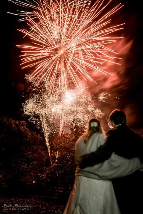 Happy Couple Enjoying our #Fireworks on November 5th at Wick Farm!!